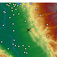 Nearby Forecast Locations - Valley Springs - Mapa