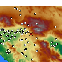 Nearby Forecast Locations - Yucaipa - Mapa