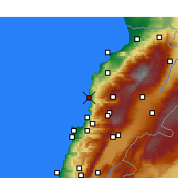 Nearby Forecast Locations - Biblos - Mapa