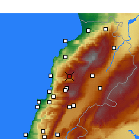 Nearby Forecast Locations - El Laqloûq - Mapa