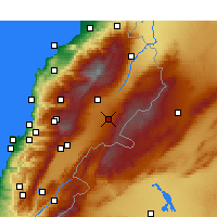 Nearby Forecast Locations - Baalbek - Mapa