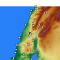 Nearby Forecast Locations - Nabatieh - Mapa