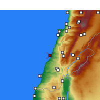 Nearby Forecast Locations - Sidón - Mapa