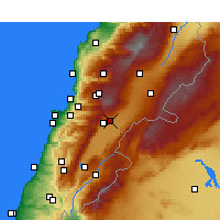 Nearby Forecast Locations - Zahlé - Mapa