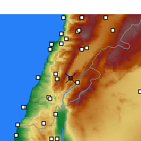 Nearby Forecast Locations - Karaoun - Mapa