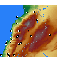Nearby Forecast Locations - Deir el Ahmar - Mapa